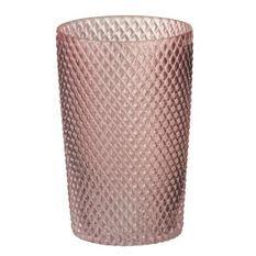 Vase cylindrique verre rose Uchi H 20 cm
