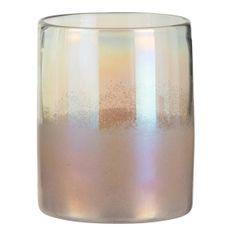 Vasse verre rose Corali H 20 cm