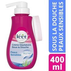 VEET Creme Dépilatoire Sous la douche - Peaux Sensibles 400ML
