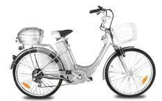 Vélo électrique de ville 250W E-Go City argent