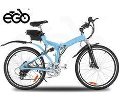 Vélo électrique E-Go Chicago 250W bleu