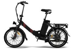 Vélo électrique E Go Line Quick 250W Noir et Rouge