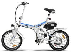 Vélo électrique E-Go Quick Line 250W blanc et bleu