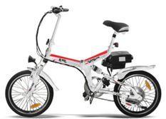 Vélo électrique E-Go Quick Line 250W blanc et rouge