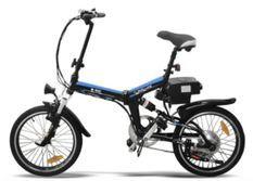 Vélo électrique E-Go Quick Line 250W noir et bleu