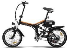 Vélo électrique E-Go Quick Line 250W noir et orange