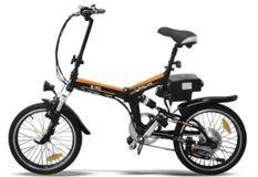 Vélo électrique E-Go Quick Line 250W noir et rouge