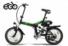 Vélo électrique E-Go Quick Line 250W noir et vert