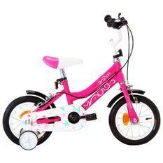 Vélo pour fille rose et noir 12 pouces Vital