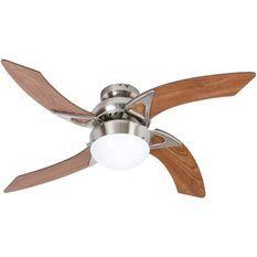 Ventilateur de plafond - MOOREA - 107cm - 4 pales - 1 lampe reversible