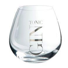 Verre boule gin tonic transparent et argenté Liath