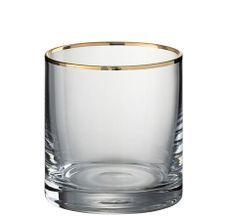 Verre cylindrique bord doré Ysarg