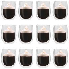 Verres à thé double paroi 12 pcs 320 ml