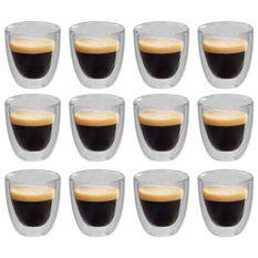 Verres thermos à double paroi pour café expresso 12 pcs 80 ml