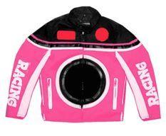 Veste de cross rose enfant Racing