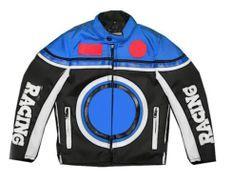 Veste Moto Bleu Racing