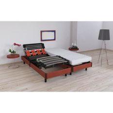 VIGO Ensemble relaxation matelas + sommiers électriques 2 x 80 x 200 cm - Mousse - 16 cm - Ferme