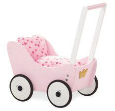 Voiture de poupée hêtre massif rose Prinzessin Lea