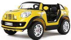 Voiture électrique jaune Mini Cooper Comberman