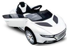 Voiture électrique Roadster 2x30W 12V blanc