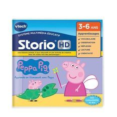 VTECH - Jeu Éducatif Storio - Peppa Pig