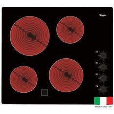 WHIRLPOOL AKM9010NE Table de cuisson vitrocéramique - 4 foyers - 6200W - L58 x P51cm - Revetement verre - Noir