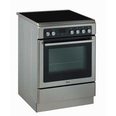 WHIRLPOOL- AXMT6534/IX - Cuisiniere Vitrocéramique - 4 foyers - 6400W -Four Chaleur Pulsée Pyrolyse - 57L - A - 60x60cm -Inox