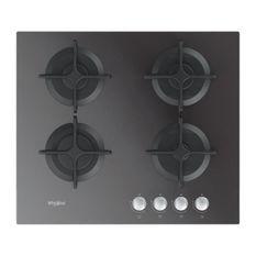 WHIRLPOOL - Table gaz verre miroir - 60 cm