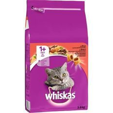 WHISKAS Croquettes au boeuf - Pour chat adulte - 3,8 kg