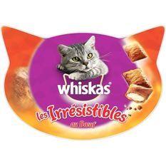 WHISKAS Les Irrésistibles friandises - Au boeuf - Pour chat - 60 g