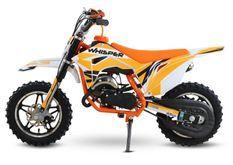 Whisper 50cc orange 10/10 Moto cross enfant