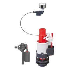 WIRQUIN Mécanisme de WC 3/6 laiton a câble + Robinet flotteur latéral Topy 3/8 laiton