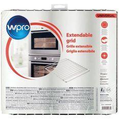 Wpro Grille extensible en inox chromé pour fours et réfrigérateurs - largeur ajustable de 35 a 56 cm