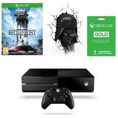 Xbox One 500 Go + Lampe Murale Dark Vador + Abonnement Xbox Live Gold 3 Mois