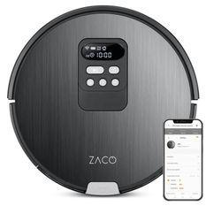 ZACO 501901 Robot Aspirateur Laveur V85 - Autonomie 130min - Réservoir 750ml - Puissance 22W