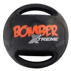 ZEUS Balle Xtreme Bomber en caoutchouc 17,8 cm - Noir et orange - Pour chien