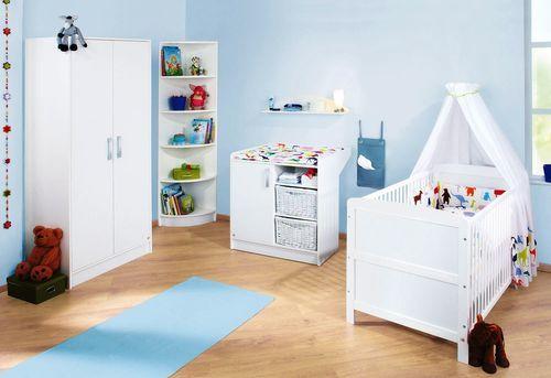 Armoire bébé 2 portes bois blanc Viktoria - Photo n°3; ?>