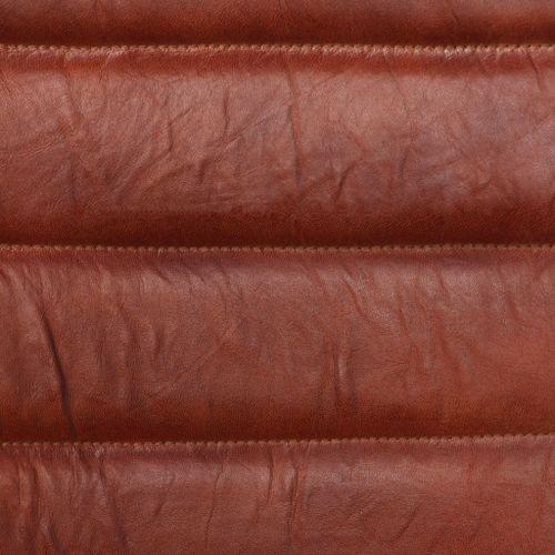 Chaise avec accoudoirs cuir marron et pieds métal noir Kandyas - Lot de 2 - Photo n°3; ?>