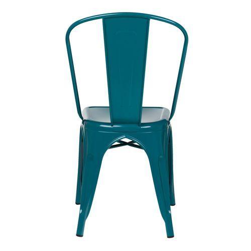 Chaise industrielle acier brillant bleu turquoise Kontoir - Photo n°3; ?>