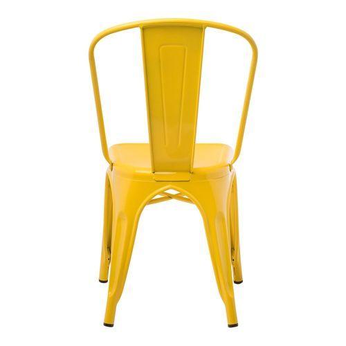 Chaise industrielle acier brillant jaune curri Kontoir - Photo n°3; ?>