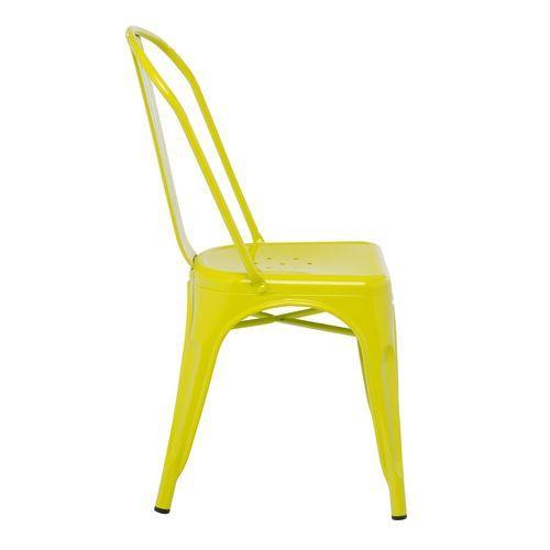Chaise industrielle acier brillant vert anis Kontoir - Photo n°2; ?>