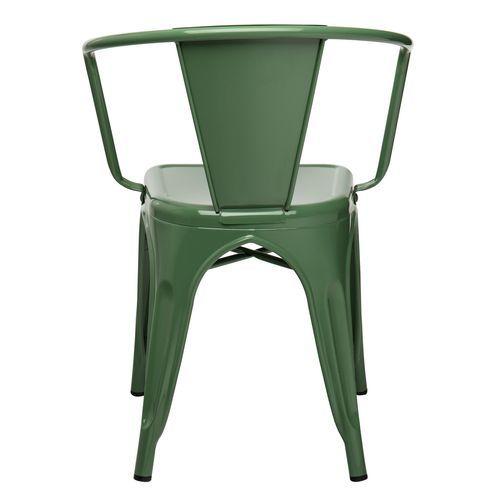 Chaise industrielle avec accoudoirs acier brillant vert platane Kuista - Photo n°3; ?>