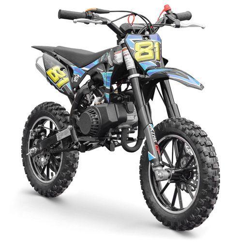 Moto cross enfant 50cc 2 Temps 10/10 bleu Kobra - Photo n°2; ?>