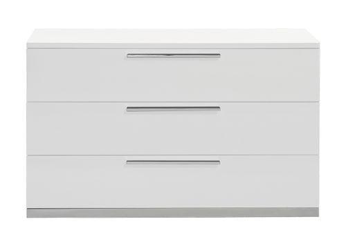 Commode 3 tiroirs bois laqué blanc Italya - Photo n°2; ?>