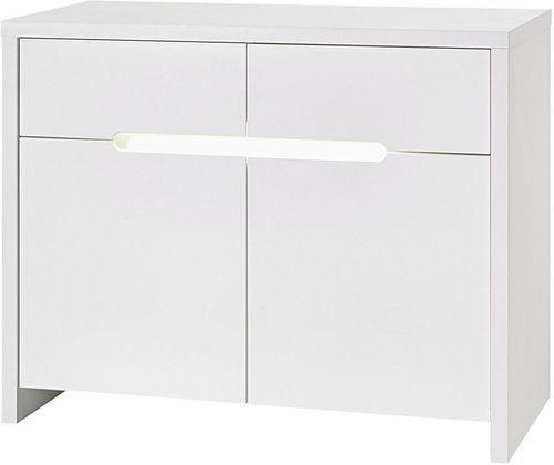 Commode à langer 2 tiroirs blanc Poppy White - Photo n°2; ?>
