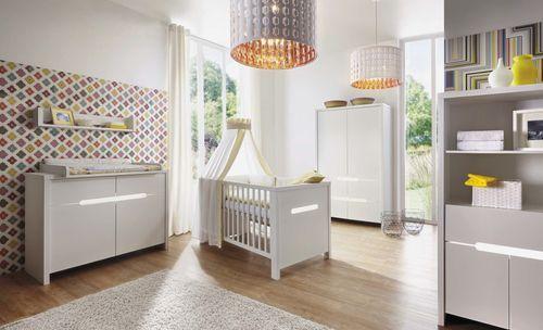 Commode à langer 2 tiroirs blanc Poppy White - Photo n°3; ?>