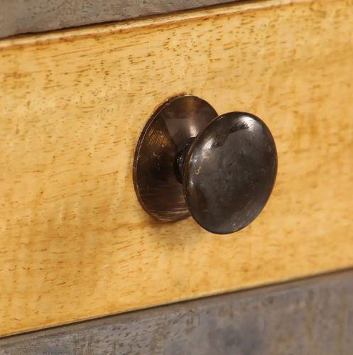 Console 2 tiroirs bois massif foncé et clair Guilty - Photo n°2; ?>