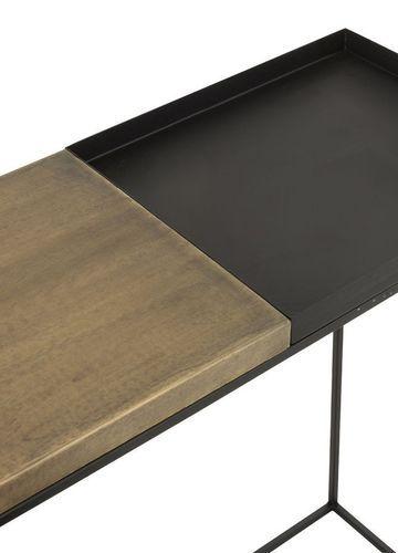 Console métal noir et doré Ysarg - Lot de 2 - Photo n°3; ?>