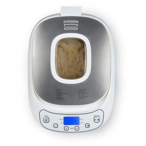 DOMO B3963 Machine a pain automatique - 550 W - Pains de 700 ou 1000 g - 12 programmes - Blanc - Photo n°3; ?>