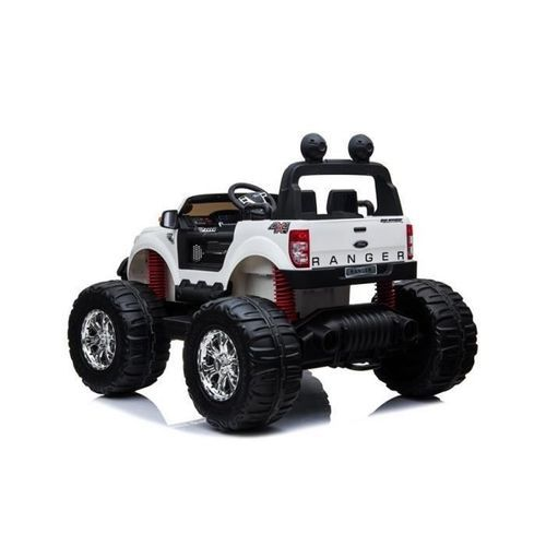 EROAD - Ford Ranger Monster Truck 2 places 4X4 Blanc - 2 places - 12V - Roues gomme - MP3 - Radio FM - Bluetooth - Photo n°3; ?>